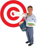 mailman w/bullseye