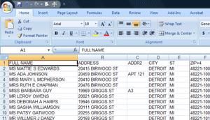 address list image